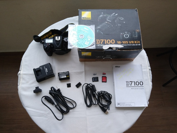 Câmera Nikon D7100+cartão 64+lente 18-300 F/3.5+2 Hoya