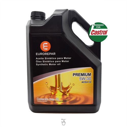 Aceite De Motor Eurorepar 4 Litros 5w 30 Sintetico