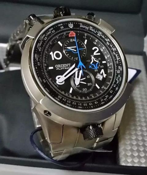 Relógio Orient Analógico Flytech Titanium Esportivo