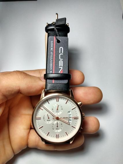 Lindo Relógio Cuena, Sofisticado E Confortável