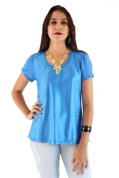 Blusa Feminina Azul Luz Da Lua