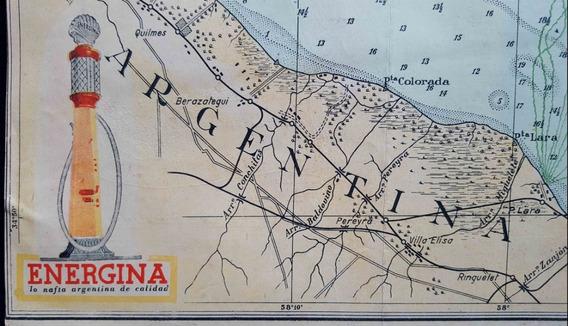 Antiguos Mapas Publicitarios Energina Shell Motor Oil 50240