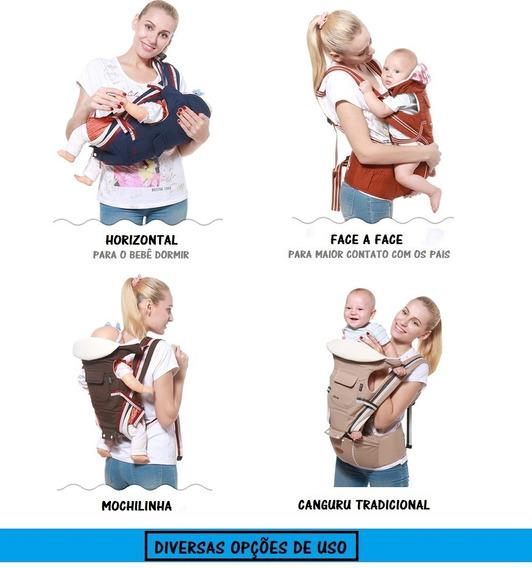 Canguru Ergonômico Suporte Gabesy Carregador Bebê B