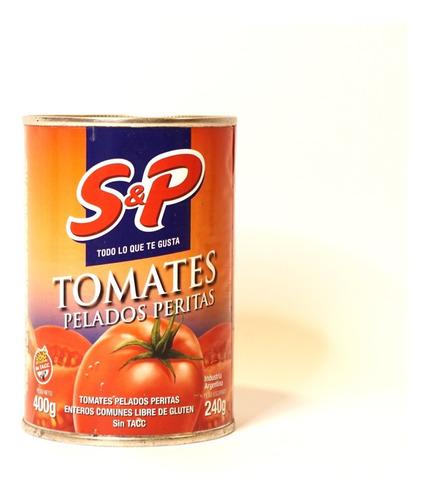 Tomate Perita Entero Pelado En Lata S&p X 400g Sin Tacc