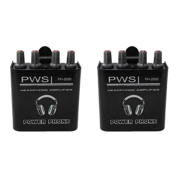 Kit Amplificador De Fone De Ouvido Ph-2000 2w 2 Canais 2 Und