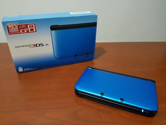 Nintendo 3ds Xl Azul - Desbloqueado 32gb - Na Caixa