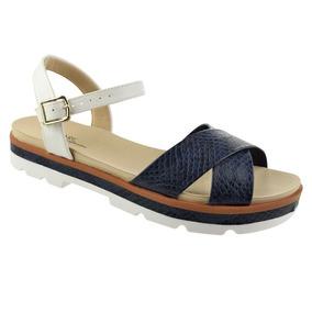 Sandália Flatform Modare Ultraconforto Feminino Azul