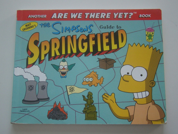 Livro The Simpsons Guide To Springfield Importado Raro