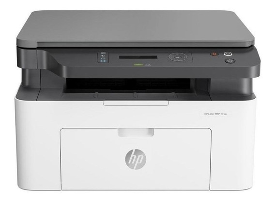 Impressora multifuncional HP LaserJet Pro M135W com Wi-Fi 220V - 240V branca e preta