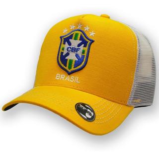 Boné Seleção Brasileira Copa 2018 - Boné Trucker Aba Curva