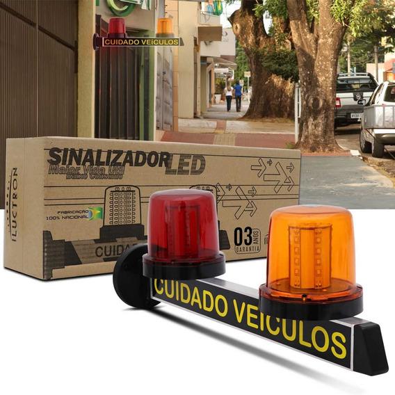 Sinalizador Luminoso De Garagem Pisca Led Com 40 Leds Bivolt