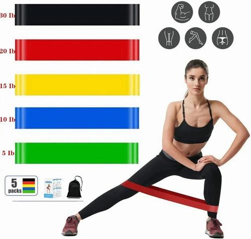 Resistencia Banda De Resistencia Ejercicio Yoga Kit 5pcs