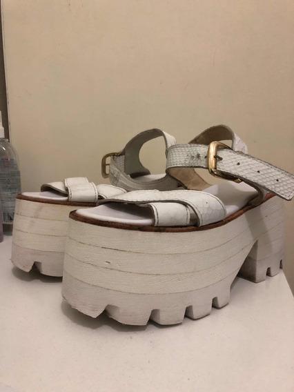 Zapatos Sofía De Grecia Blancos Talle 36