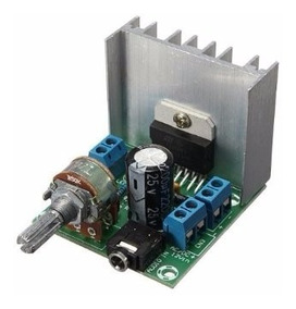Amplificador De Audio Montado Estereo Com Fonte 30w Rms 12v