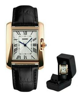 Relógio Skmei De Luxo Modelo 1085 Original Pulseira Couro