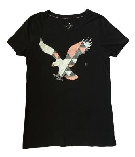 Remera American Eagle Negra