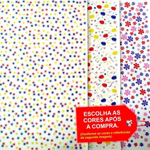 Folha De Eva Estampado Especial 3 Cores 40x60cm - 5 Unidades