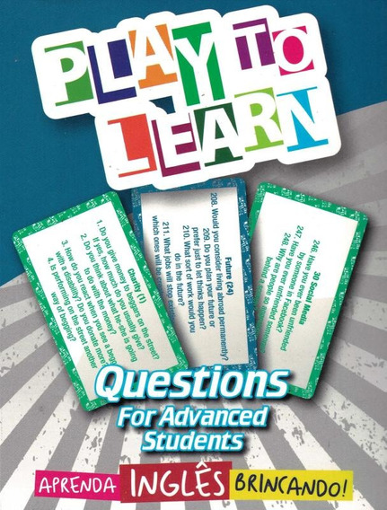 Play To Learn - Jogo De Cartas - Questions For Advanced St