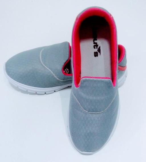 Tenis Boots Feminino. Sapatenis Cinza. Tenis Sem Cadarço