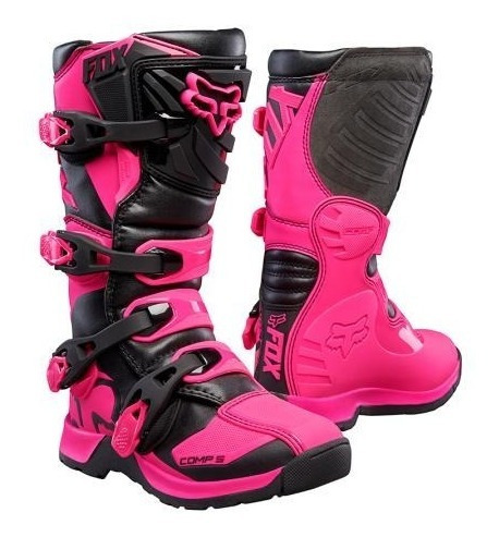 Botas Fox Comp 5 Mujer Motocross Enduro Atv Rosa Top Racing