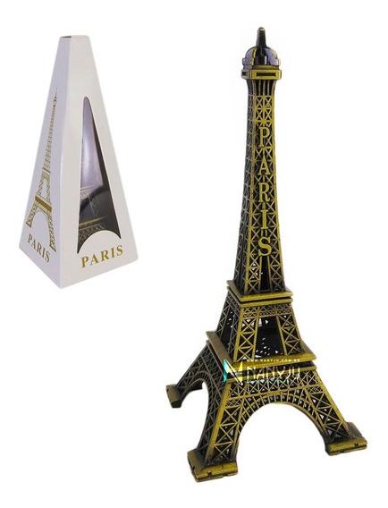Torre Eiffel Metálica Para Decoração 13 Cm