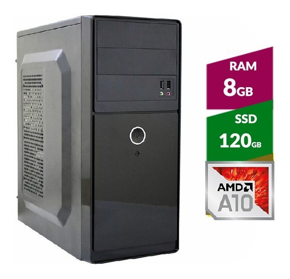 Pc Amd A10 9700 Bristol Ridge + Ssd120gb + 8gb Ddr4 2400mhz