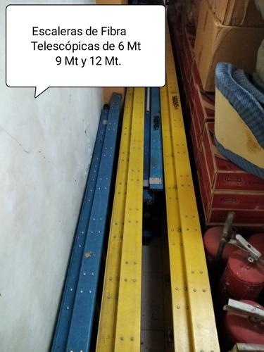 Escaleras De Fibra Vidrio Telescópicas De 10, 14 Y 20 Tramos
