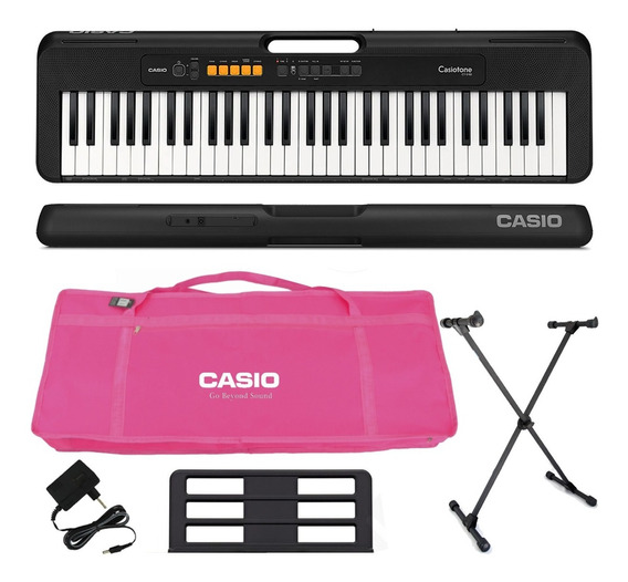 Kit Teclado Casio Tone Ct-s100 Musical 61 Teclas Rosa