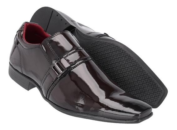 Sapato Social Masculino Em Verniz Ref:1055