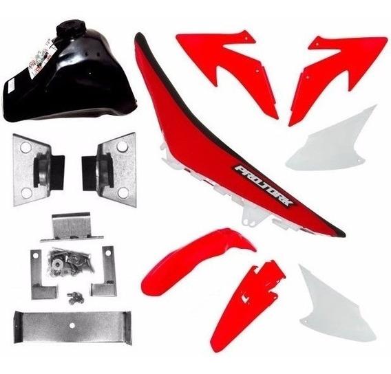 Kit Plasticos Crf230 Adaptável Xr200 Nx200 Xlr125 Bros150