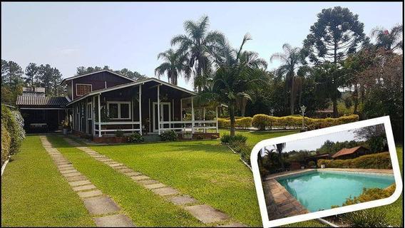 2.450,m² Plano Com Lindo Jardim E Gramado - Casa Com 03 Dormitórios Mais Casa De Hóspede - Ch0180