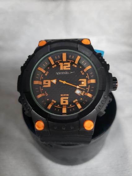 Relógio Speedo 69005 (rl-3027) Analógico Pr/laranja