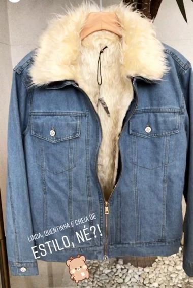 Jaqueta Jeans Com Pêlo