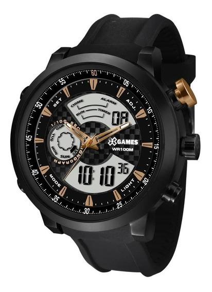 Relógio X Games Masculino Ref: Xmspa017 P2px Anadigi Black