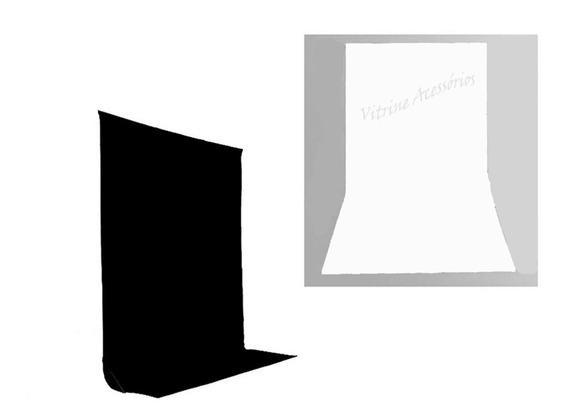 2tecidos 3x3 Preto/branco Fundo Infinito Estúdio Fotográfico Youtuber Foto Chroma Key Igreja Ringligth Escola Pps31