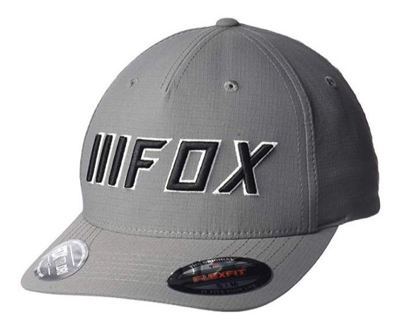 Gorra Fox Number Flexfit Gris Cachucha Mtb Moto Mx Bici