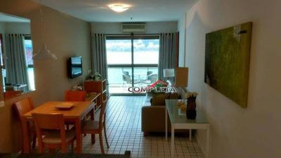 Flat Com 1 Dormitório Para Alugar, 64 M² Por R$ 3.190/mês - Lagoa - Rio De Janeiro/rj - Fl0077