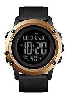Relógio Masculino Skmei Digital 1506 - Preto E Dourado
