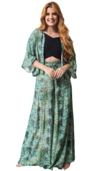 Conjunto Kimono Calça Pantalona Feminina Frete Grátis
