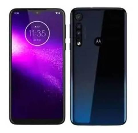 Celular Motorola One Cor Azul