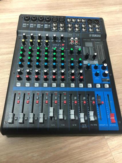 Mesa De Som Yamaha Mg12xu 12 Canais Mixer Com Efeitos