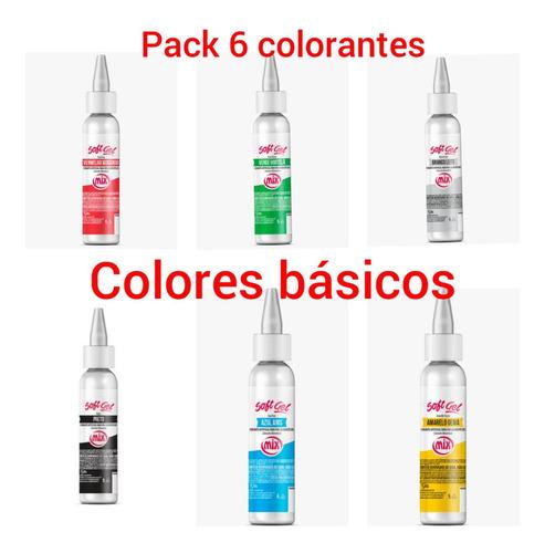 Imagen 1 de 1 de Colorante Alimentario Sin Gluten Pack Colores Básicos