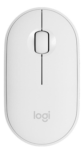 Imagen 1 de 6 de Mouse inalámbrico Logitech  Pebble M350 blanco crudo