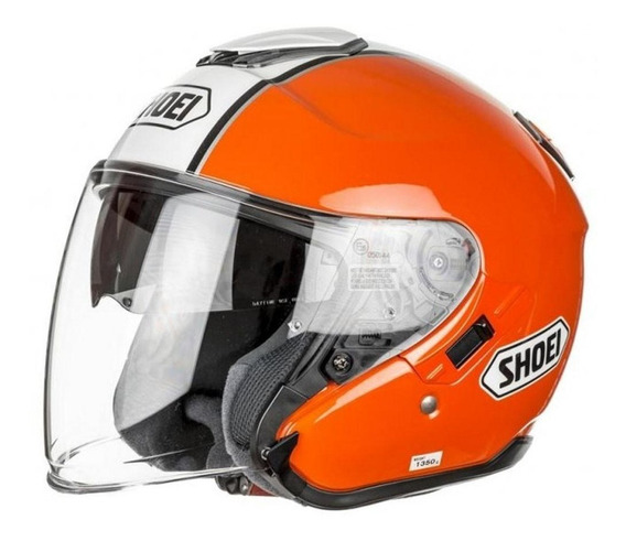 Capacete Shoei J-cruise Corso Orange Tc-8 Aberto