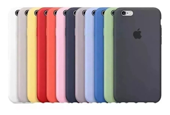 Funda Silicon Case iPhone 5 5s 6 6s 7 8 Plus X Xs 24 Colores