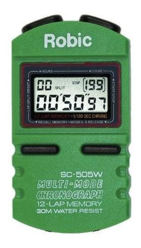 Robic Sc-505w 12 - Cronómetro Con Memoria