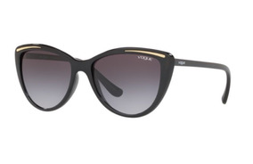 670228f69 Oculos Sol Vogue Vo5220sl W44 11 56 Preto Brilho L Cinza Deg