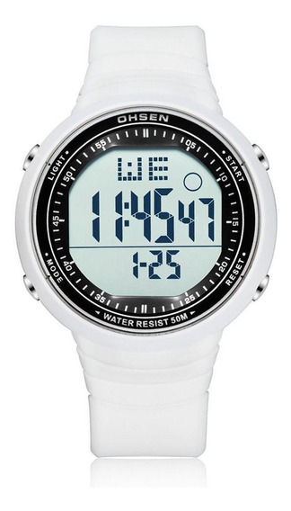 Relógio Unissex Digital Ohsen 1812 Branco