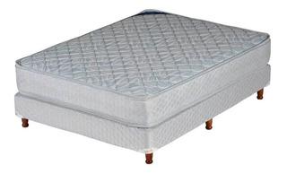 Sommier Y Colchón De Resortes Piero Modena Doble Pillow 140