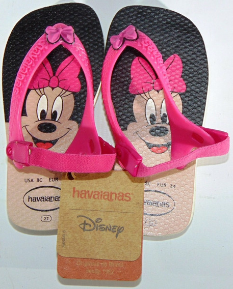 Ojotas Havaianas Disney Mikey Minie 19/24 Elastico Original